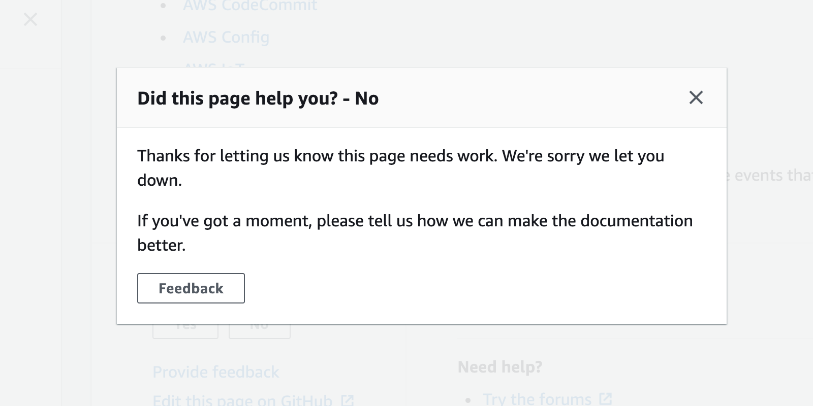 Thanks for letting us know this page needs work. We're sorry we let you down.