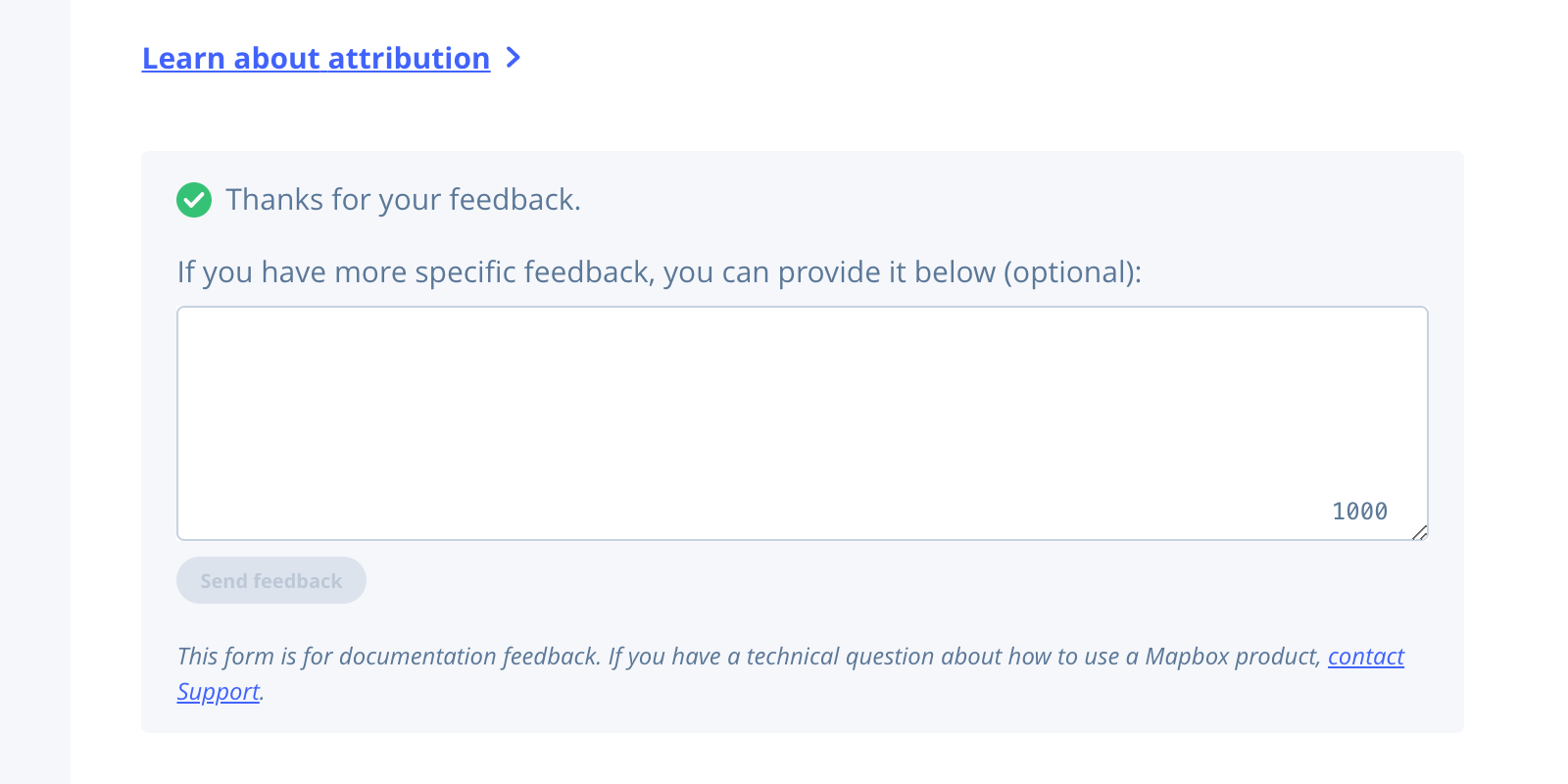 If you have more specific feedback, you can give it below (optional).